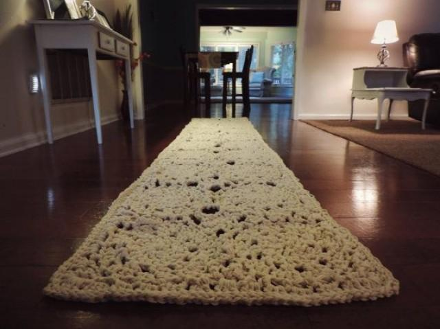 10 Ft Rectangle Doily Runner Rug Lace Carpet Long
