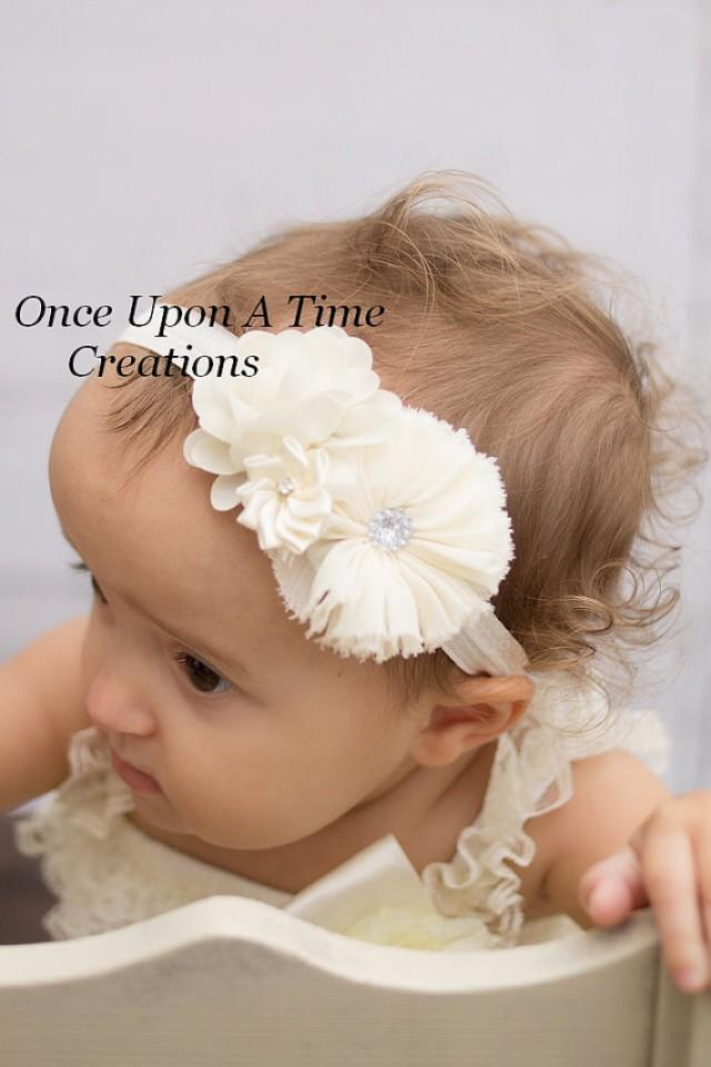 Christmas Headband For Baby Girl.Ivory Christmas Headband Baby Girl Holiday Dressy Hair Bow