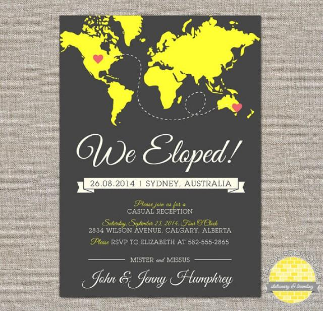 Elope Announcement And Reception Invitation