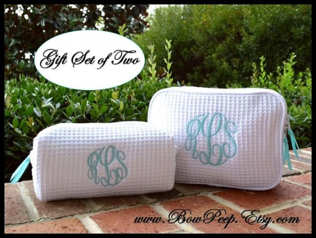 Personalized Cosmetic Bag Gift Set Of 2
