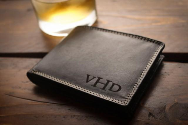 Personalized Mens Wallet For Men Fathers Gift For Dad Birthday ...