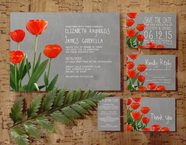 Tulips Wedding Invitation SetSuite Invites Save The