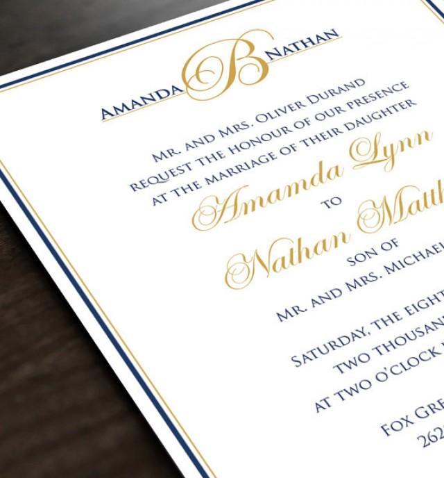 Personalized Wedding Invite