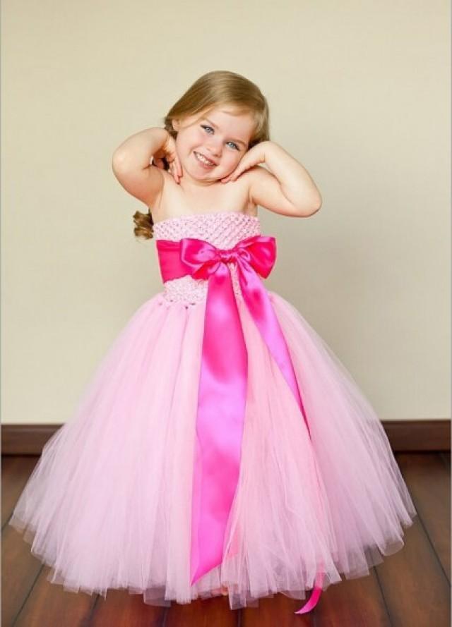 Designer Baby Pink Birthday Tutu Dress #2334149 - Weddbook