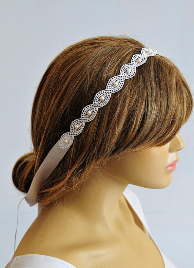 Bridal Headband, Weddings, Lace Wedding Headband, Hair ... - photo #38