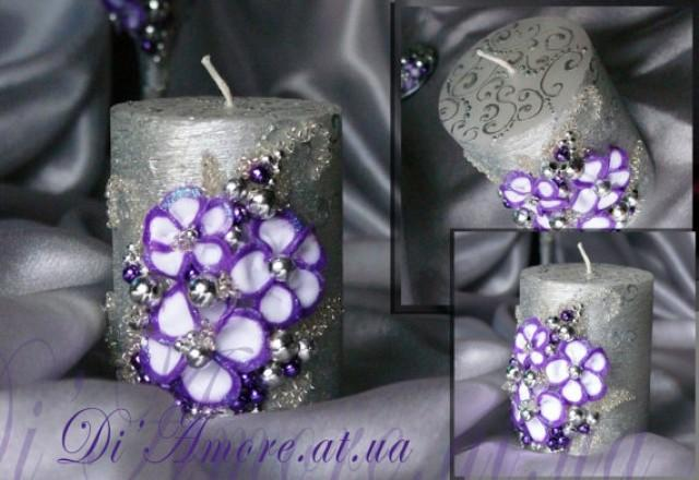 Purple and silver wedding unity candle from the collection art purple and silver wedding unity candle from the collection art flowersperls wedding silver purple weddingviolet unity candle 1 pcs 2334905 weddbook junglespirit Image collections