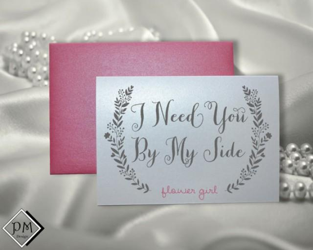Wedding Gifts For Maid Of Honor: Flower Girl Wedding Card Bridesmaid Maid Of Honor Bridal