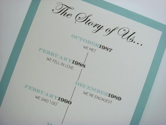 The Story Of Us Wedding Sign Perfect For Your Wedding Anniversary