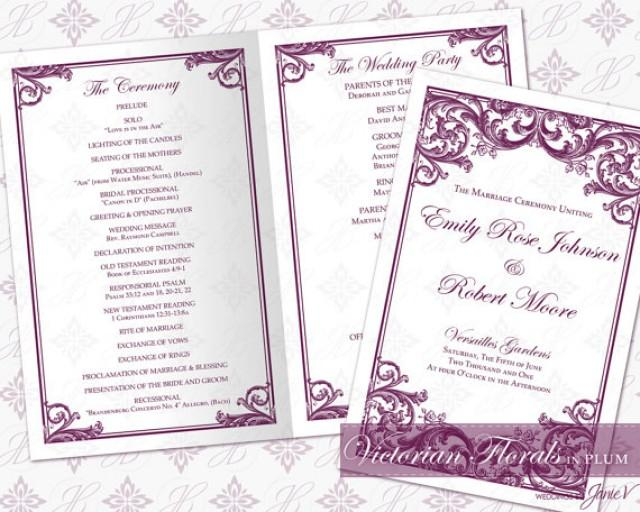 DIY Printable Wedding Ceremony Program Template 2335524 Weddbook