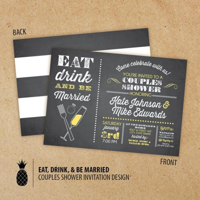 1000 Images About Eat Drink And Be Married On Pinterest: Chalkboard Inspired Eat Drink & Be Married Couples Shower