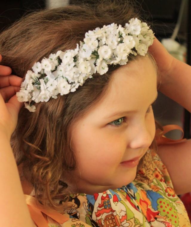 Babys Breath Crown Fl Headband Flower Bridal Headpiece Wedding Elastic Newborn Photo Prop 2337736 Weddbook