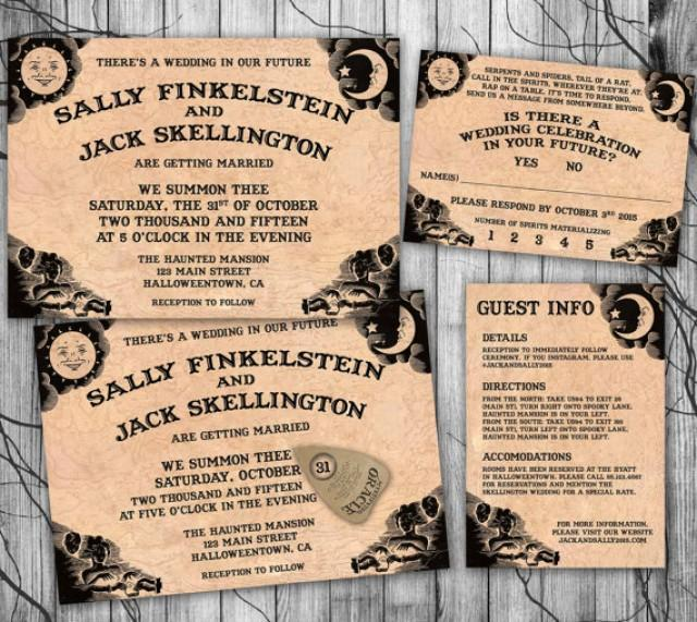 Halloween Wedding Invitation Suite Ouija Board Invite Diy Halloween Wedding Invitation Set Printable Reply Information Card Gothic Party 2337902 Weddbook