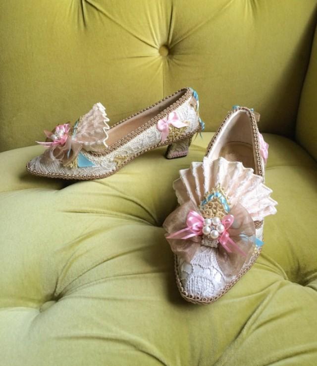 Marie Antoinette Costume Shoes Rococo Baroque Fashion