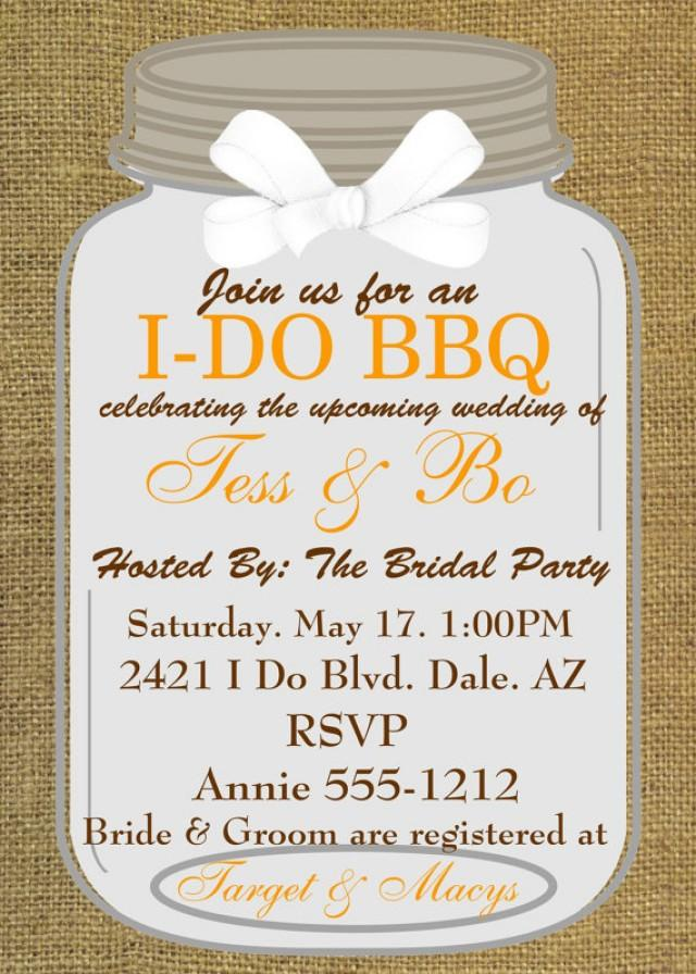 Bridal shower invitations engagement party i do bbq for Wedding couples shower invitations