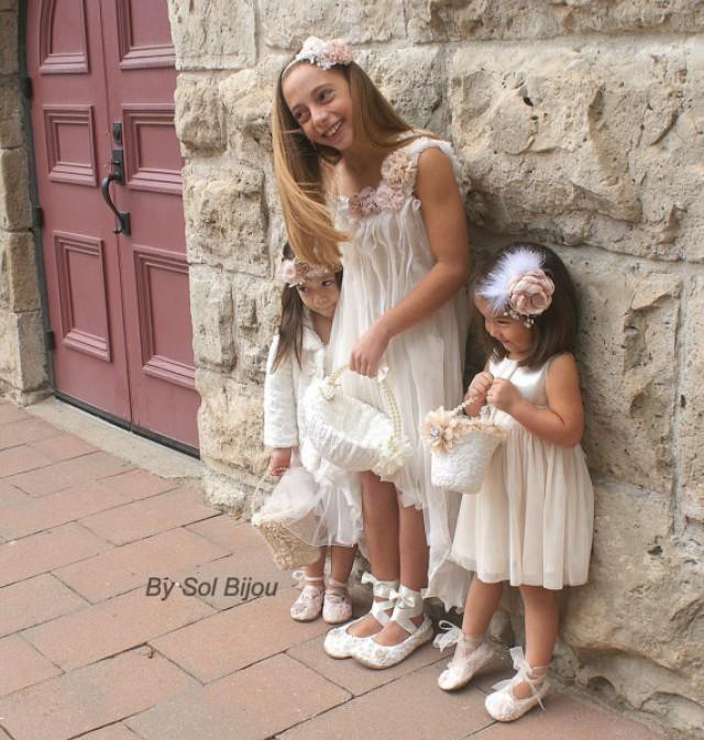 Champane Flower Girl Shoes