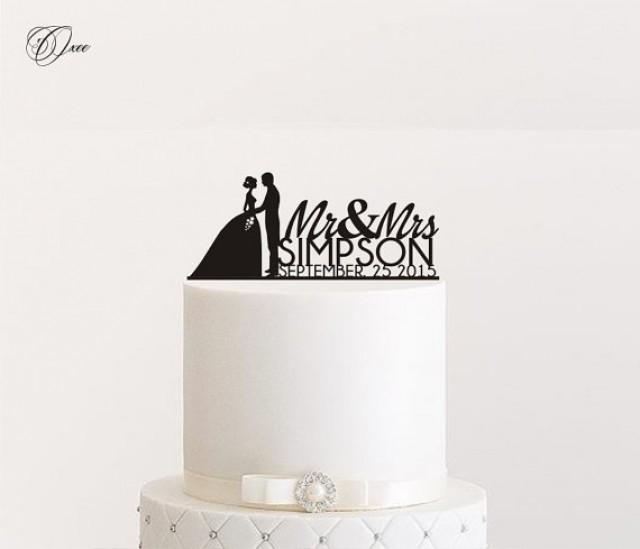 Custom Name Wedding Cake Topper By Oxee Metallic Gold And Silver