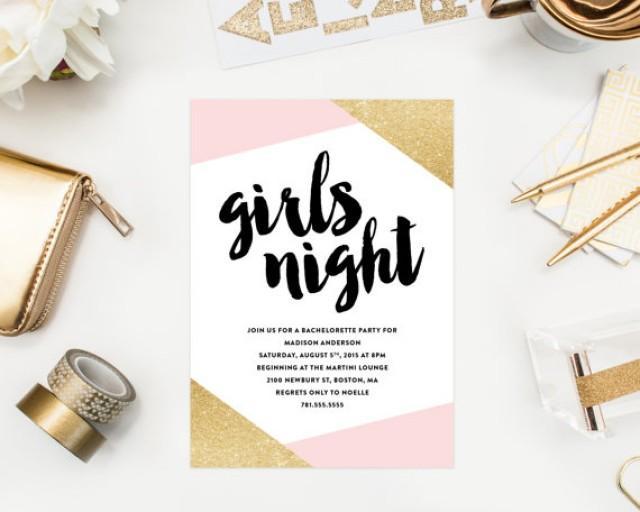 printable girls night bachelorette party invitation 2339178