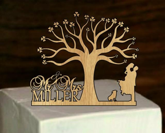 Personalized Wedding Cake Topper With Dog