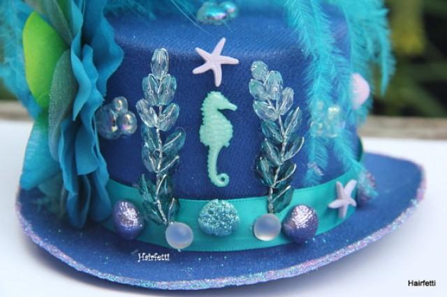 Cobalt Seahorse Mini Top Hat Mermaid Headband Mardi Gras