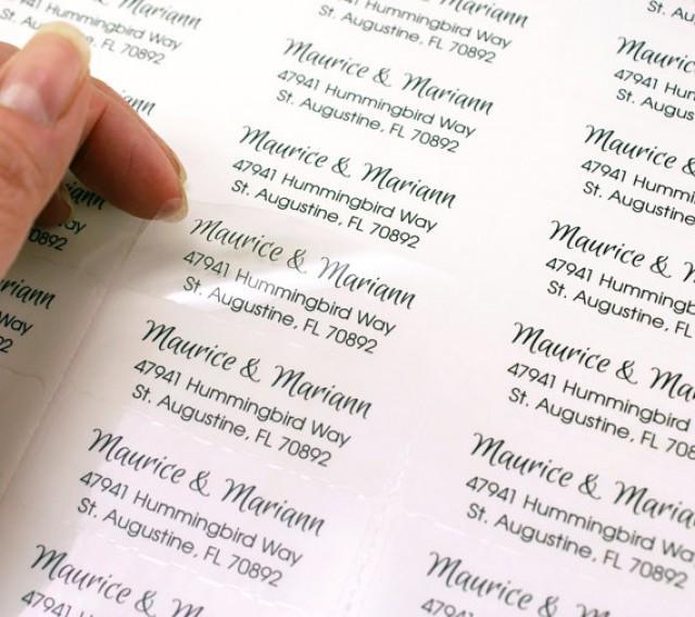 custom print clear address labels 2 5 8 x 1 transparent custom