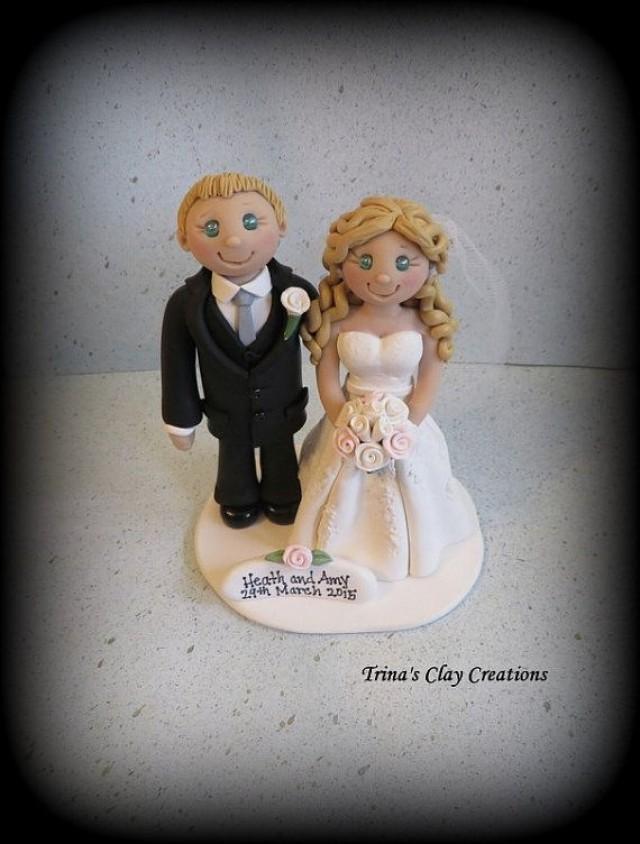Relaxed Bride Groom Wedding Cake Topper