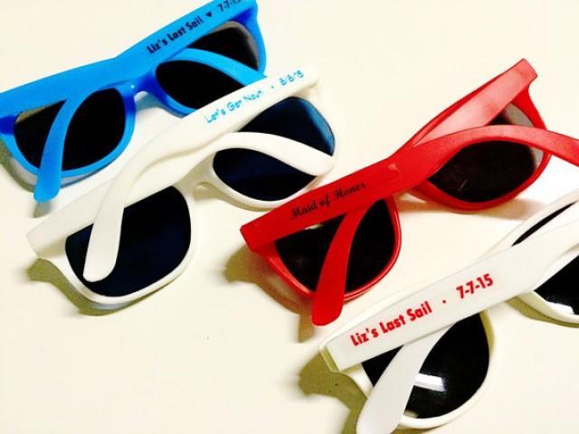 10 Personalized Bachelorette Sunglass Favor Beach Wedding Sunglasses Nautical Last Sail Before The Veil SET 2340845