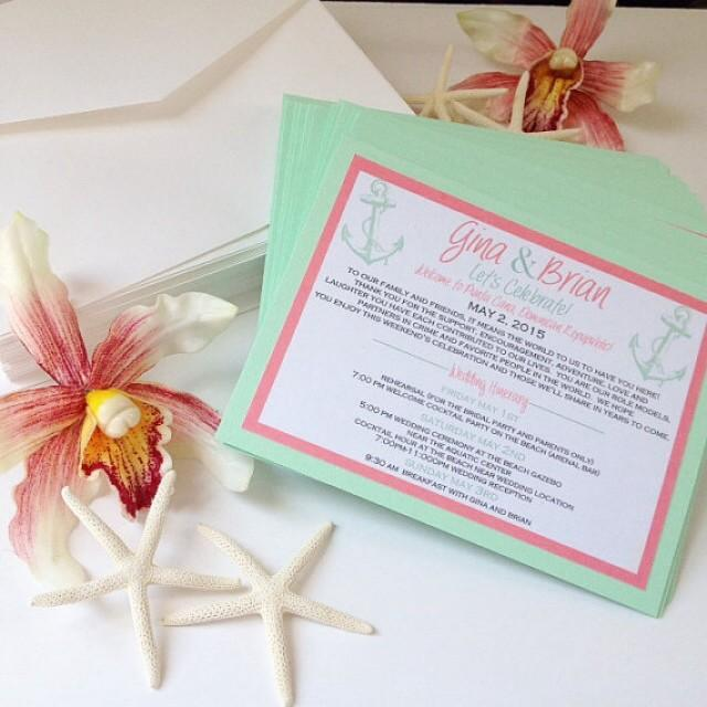 Destination Wedding Invitation, Welcome Cards For