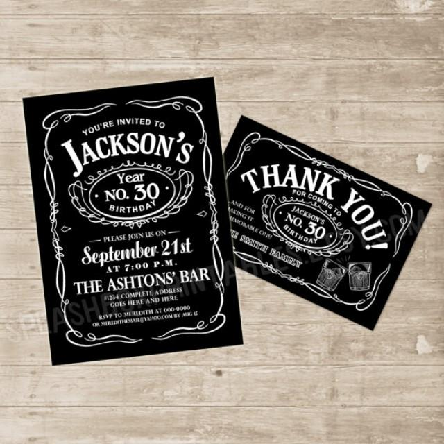 Whiskey Invitation Jack Daniels Inspired Invitations Jack
