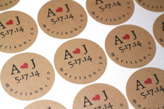 Wedding Invitation Stickers: Wedding Invitation Seals