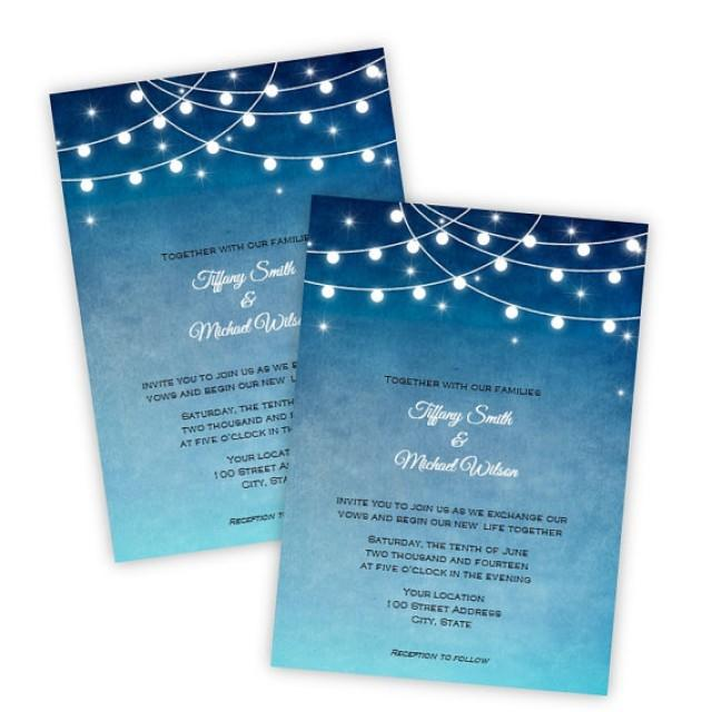 Wedding Invitation Lights At Night Diy Printable