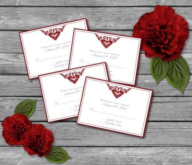 editable wedding rsvp response card template