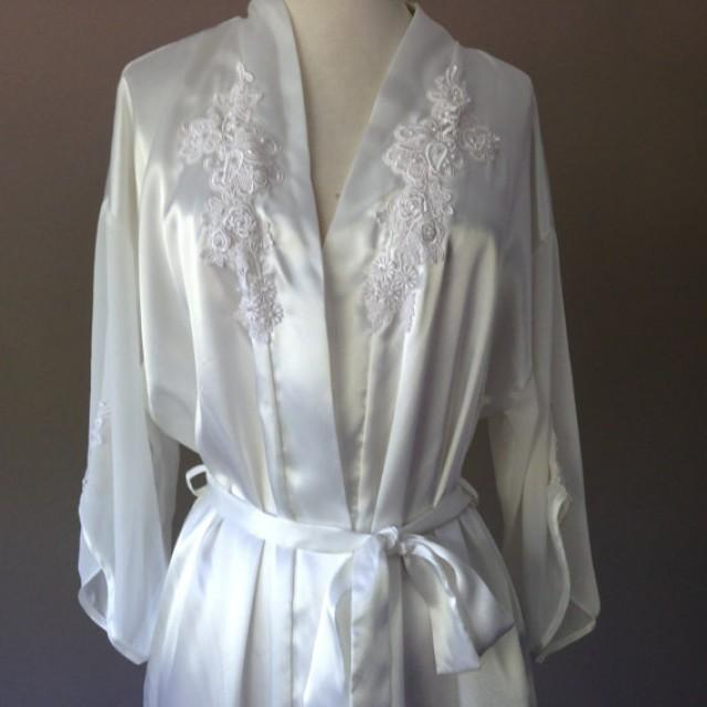 Dorable Satin Dressing Gown Bride Photo - Top Wedding Gowns ...