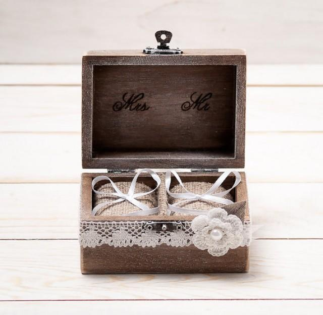Wedding Ring Box Wedding Ring Holder Ring Pillow Bearer Box With