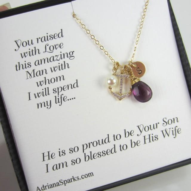 Wedding Gifts For Mother In Law: Mother Of The Groom Necklace, Mother Of The Groom Card