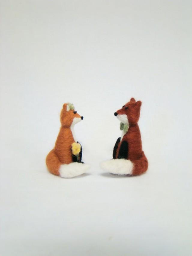 Fox Cake Topper Wedding