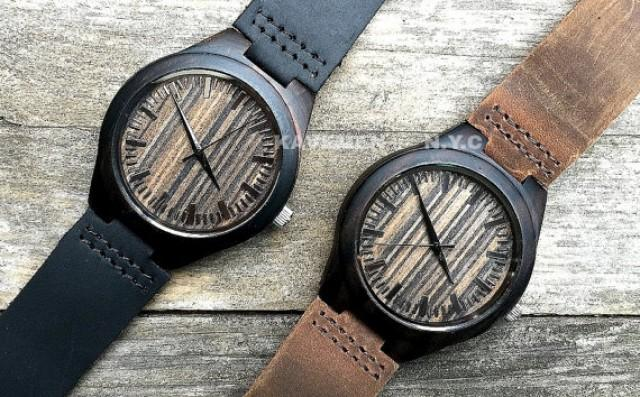Watch As Wedding Gift: MENS Wrist Watch, Wood Watches, Engraved Watch