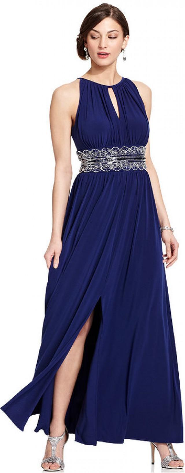R&M Richards Sleeveless Beaded Evening Gown #2345615 - Weddbook
