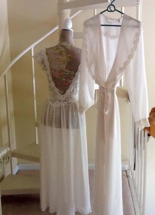 Vintage Victoria Secrets Bridal Lingerie Set / With Tags / SZ M ...