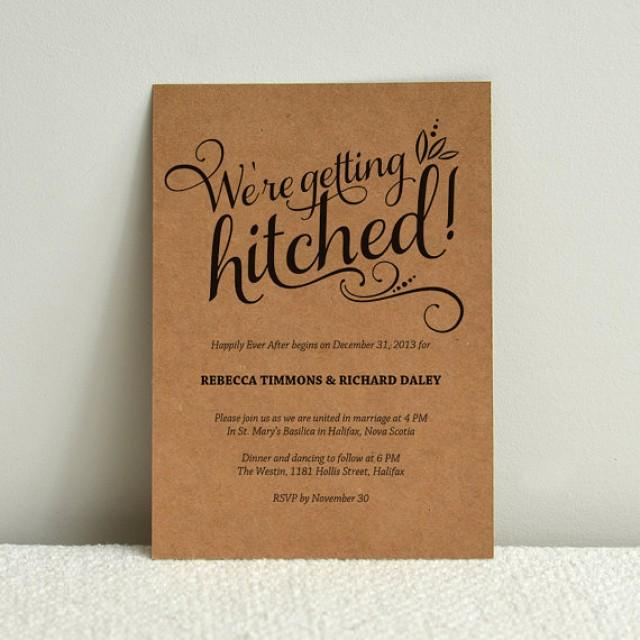 Paper For Diy Wedding Invitations: We're Getting Hitched Script