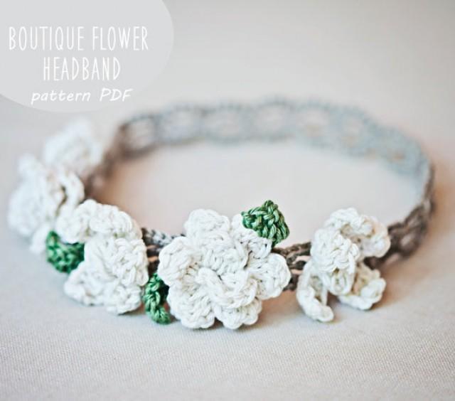 Instant Downlaod - Crochet PATTERN (pdf File) - Boutique Flower ...