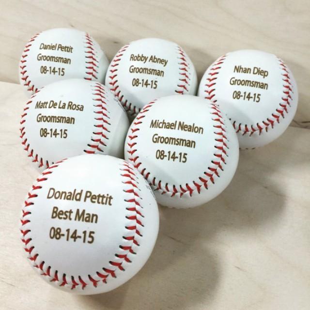 Engraved Baseball Ring Bearer Gift Groomsman Best Man Favor Wedding Custom Personalized For Men 2346472