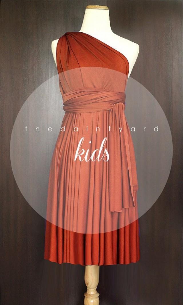 Kids Burnt Orange Bridesmaid Dress Wedding Dress Infinity