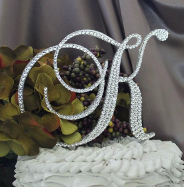 5 5 u0026quot  monogram wedding cake topper in any letter a b c d e f g h i j k l m n o p q r s t u v w x