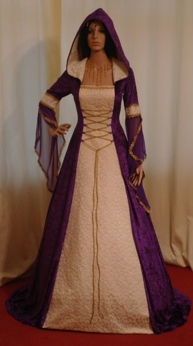 celtic wedding dress  medieval dress  handfasting dress