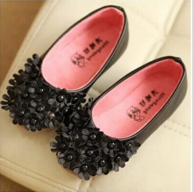 cbc464b2fedab Designer Black Party Wear Flower Shoes #2347356 - Weddbook