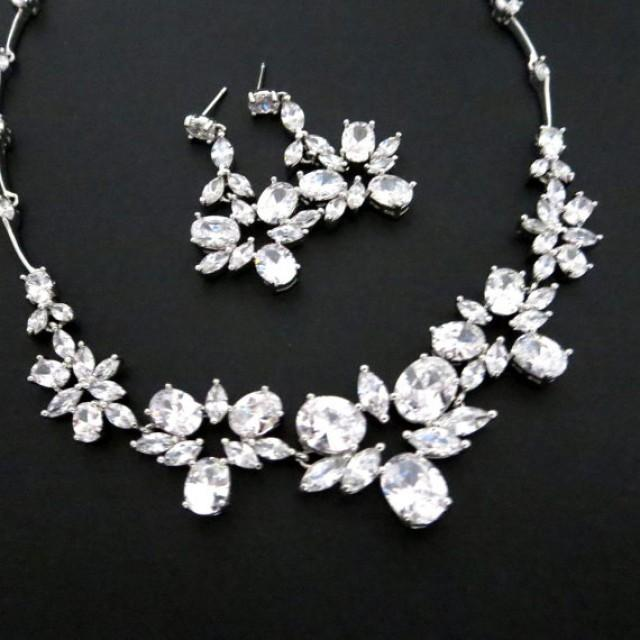Crystal Wedding Necklace Bridal Set Jewelry Earrings Rhinestone And Bridesmaid 2348445
