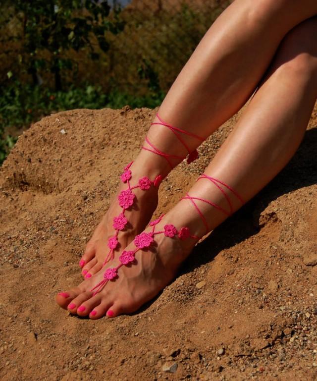 Barefoot Sandals Beach Wedding Bride Feet Jewelry Beach