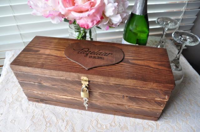 Unique Handmade Wedding Gifts: Custom Wooden Wine Box Personalized Wedding Wine Box