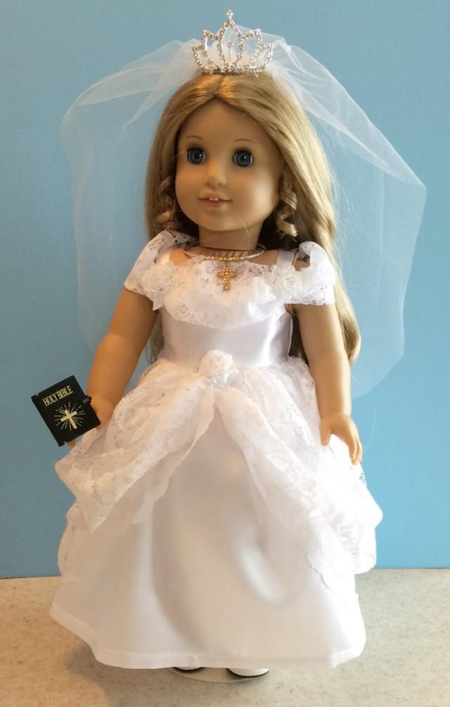 American Girl Doll Clothes Priness First Communion Dress