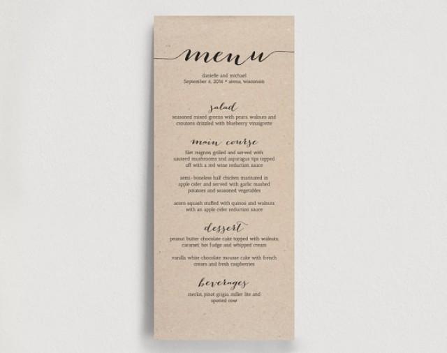 wedding dinner menu template juve cenitdelacabrera co